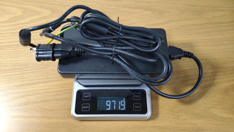Alienware m15 R3の充電器の重量