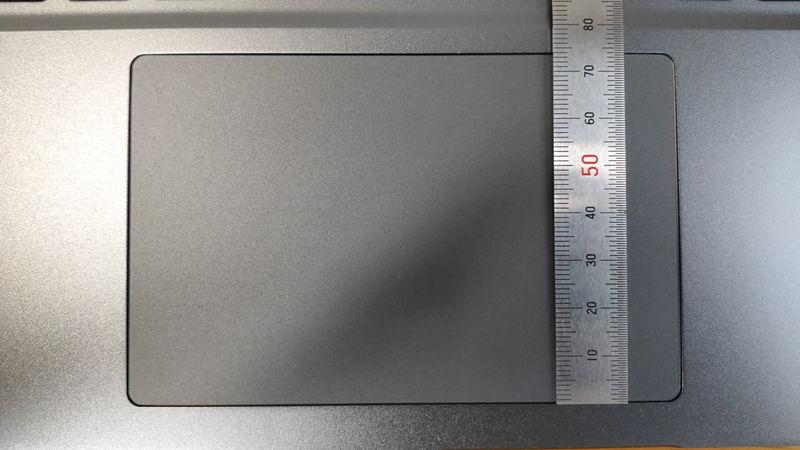 GALLERIA RL5R-G50Tのタッチパッドの縦の長さ