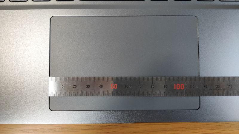 GALLERIA RL5R-G50Tのタッチパッドの横の長さ