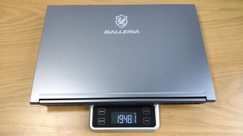 GALLERIA RL5R-G50Tの本体の重量