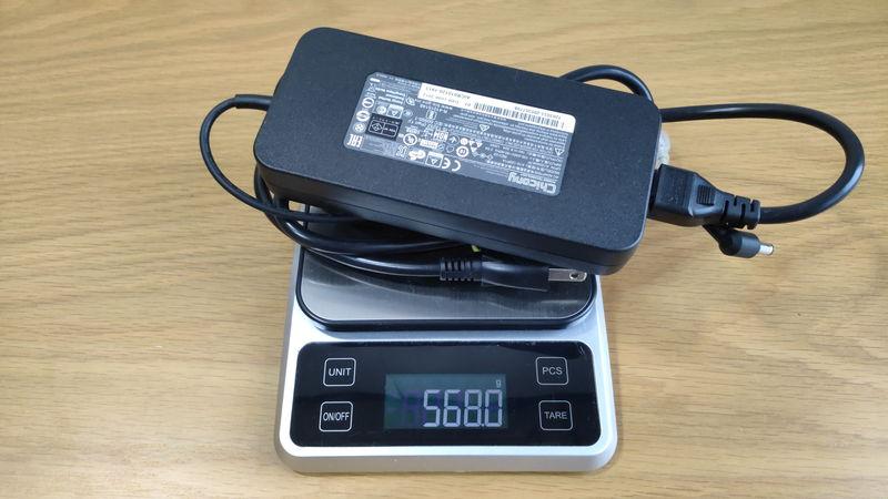 GALLERIA RL5R-G50Tの充電器の重量