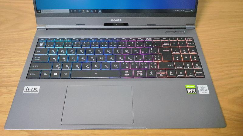 G-Tune E5-144のキーボードのRGB LED1