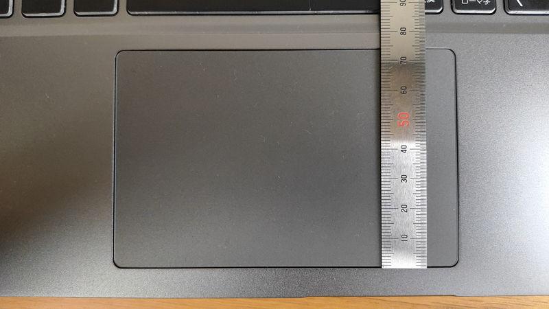 GALLERIA GR2060RGF-Tのタッチパッドの縦の長さ