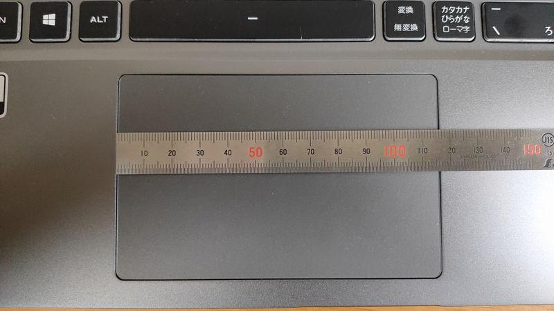 GALLERIA GR2060RGF-Tのタッチパッドの横の長さ