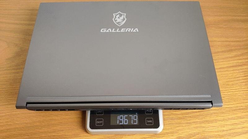 GALLERIA GR2060RGF-Tの本体の重量