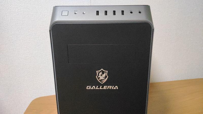GALLERIA RM5R-G60Sのインターフェースの前側