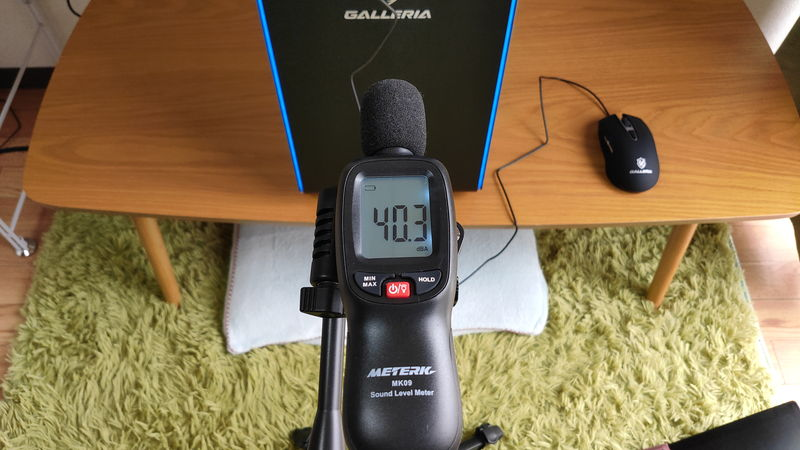 GALLERIA XA7R-R37のファン静音性のベンチマーク結果(高負荷時)