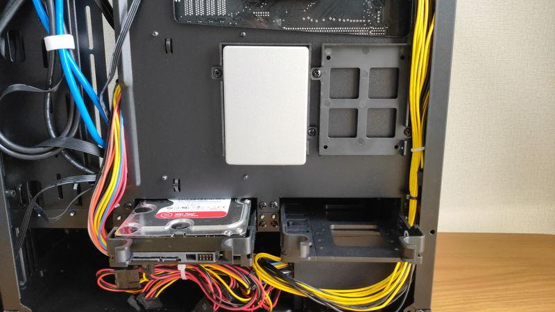 GALLERIA XA7R-R37のHDD・SSDスロット2