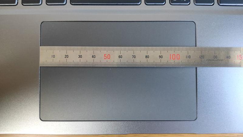 GALLERIA XL7C-R36のタッチパッドの横の長さ