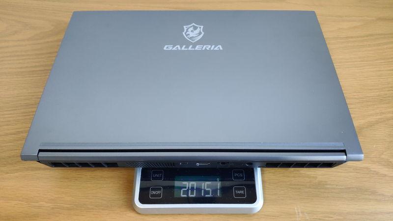 GALLERIA XL7C-R36の本体の重量