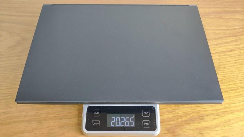 GALLERIA GCL1650TGFの本体の重量