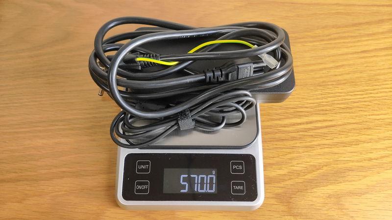 GALLERIA GCL1650TGFの充電器の重量