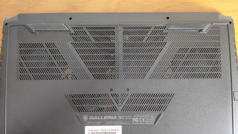GALLERIA GCL2060RGF-Tの吸気口・排気口