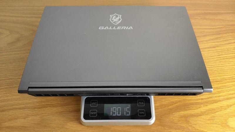 GALLERIA GCL2060RGF-Tの本体の重量