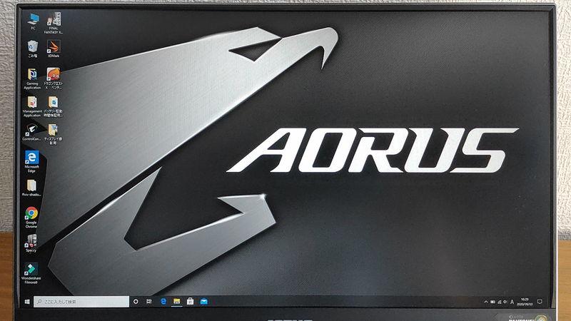 GIGABYTE AORUS 15Gのデスクトップ画像