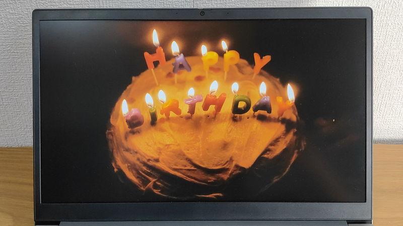 レノボ ThinkBook 15の暗い画像