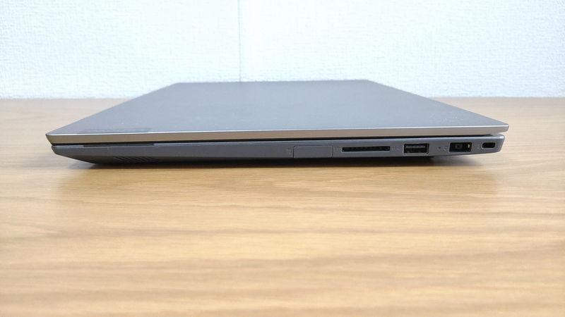 レノボ ThinkBook 15のインターフェースの右側