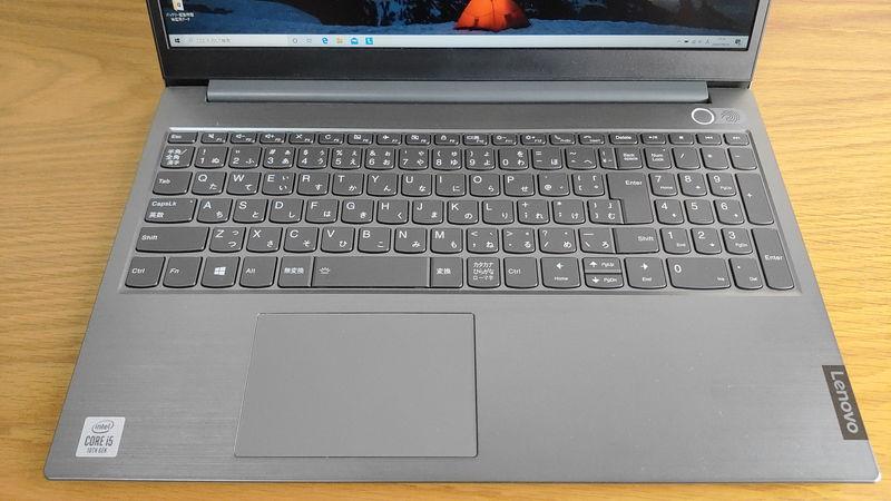 レノボ ThinkBook 15のキーボードとタッチパッド