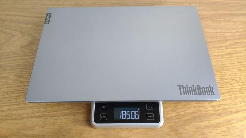 レノボ ThinkBook 15の本体の重量