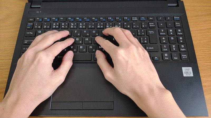 mouse F5のキーボードのホームポジション