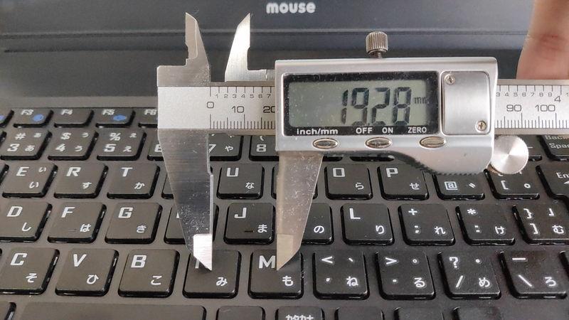 mouse F5のキーピッチ
