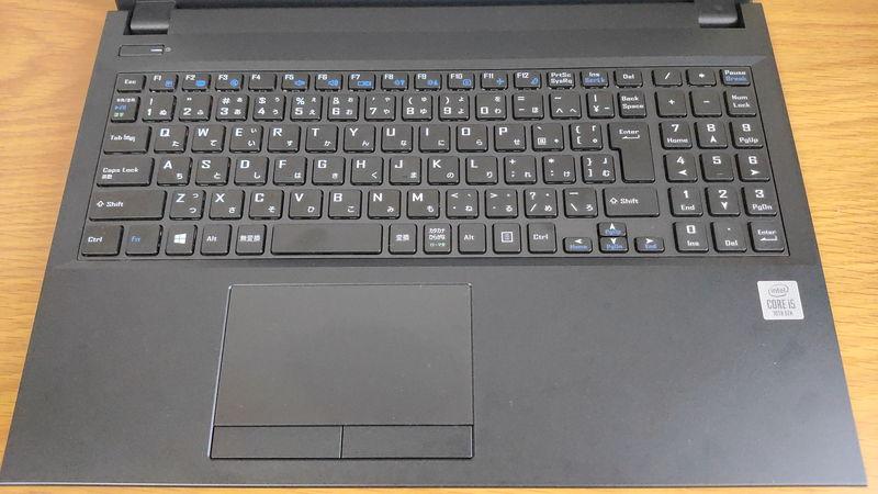 mouse F5のキーボードとタッチパッド