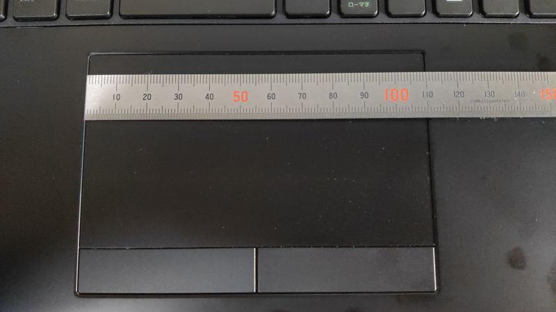 m-Book K700SN-M2SH2のタッチパッドの横の長さ