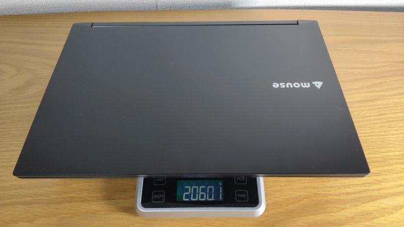 m-Book K700SN-M2SH2の本体の重量