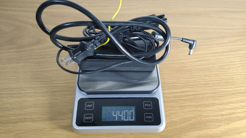 m-Book K700SN-M2SH2の充電器の重量